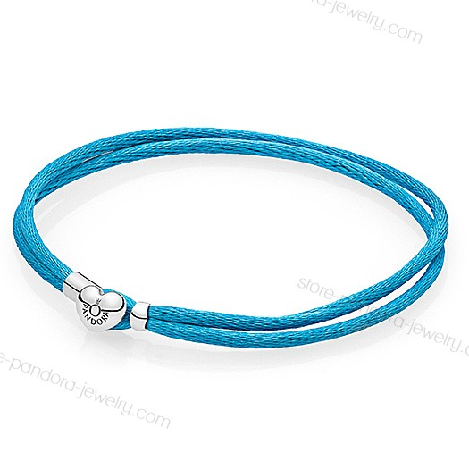 Pandora Moments Turquoise Fabric Cord Bracelet With Nice Model - Pandora Moments Turquoise Fabric Cord Bracelet With Nice Model-31