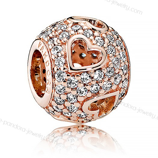 Pandora Rose Tumbling Hearts Charm With The Best Price - Pandora Rose Tumbling Hearts Charm With The Best Price-01-0