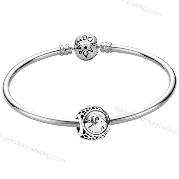 Pandora Capricorn Star Sign Charm Moments Bangle At Half-Price - Pandora Capricorn Star Sign Charm Moments Bangle At Half-Price-01-0