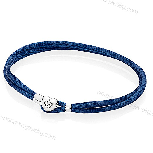 Pandora Moments Dark Blue Fabric Cord Bracelet Price At a Discount - Pandora Moments Dark Blue Fabric Cord Bracelet Price At a Discount-01-1