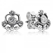 Pandora Tiara Heart Cz Stud Earrings Of Good Quality-20