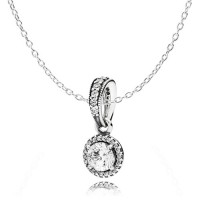 Pandora Classic Elegance Pendant & Chain Set Price At a Discount-20