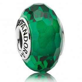 Pandora Murano Green Faceted Issue At a Discount 42%