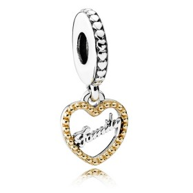 Pandora Family Script Pendant Charm 14ct Price At a Discount
