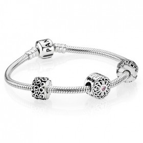 Pandora Loving Hearts & Friendship Charm Bracelet Price At a Discount 41%