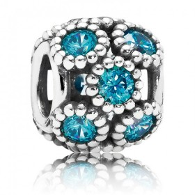 Pandora Teal Openwork Sparkling Circles Charm Sell At a Discount 48%