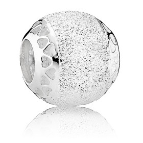 Pandora Glittering Hearts Of Pandora Silver Charm 42% Discount Off