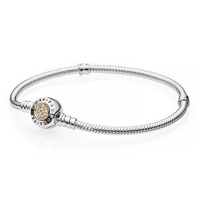 Pandora Moments Two Tone Bracelet 14K On Promotion